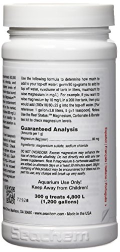 Amazon.com : Seachem Reef Advantage Magnesium 300gram : Aquarium Treatments : Pet Supplies