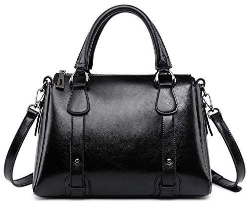 Women Leather Handbag Classy Satchel Ladies Shoulder Crossbody Bags Boston Chic Top Handle Work Bag