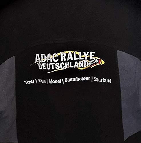 ADAC Herren Fleecejacke Rallye Deutschland WRC Schwarz Grau Rei/ßverschluss