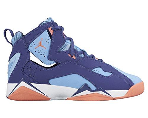 Jordan TRUE FLIGHT GG GRADE SCHL girls basketball-shoes 342774-500_7Y - Dark Purple Dust/Atomic Pink-Bluecap by Jordan