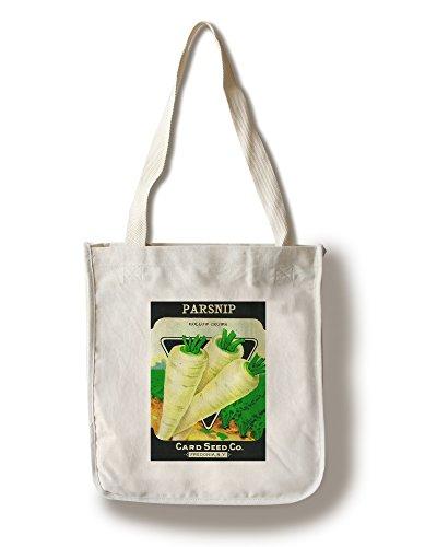 Lantern Press Parsnip Seed Packet (100% Cotton Tote Bag - Reusable)