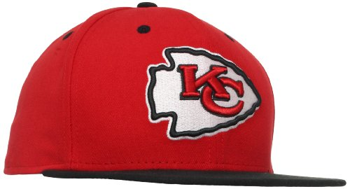 NFL Kansas City Chiefs Two Tone 59Fifty Fitted Cap, Red/Black, 7 1/4