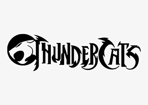 LCK Unique Design Thundercats Logo, Black, 22 Inch, Die Cut Vinyl Decal, for Windows, Cars, Trucks, Toolbox, Laptops, MacBook-virtually Any Hard Smooth Surface