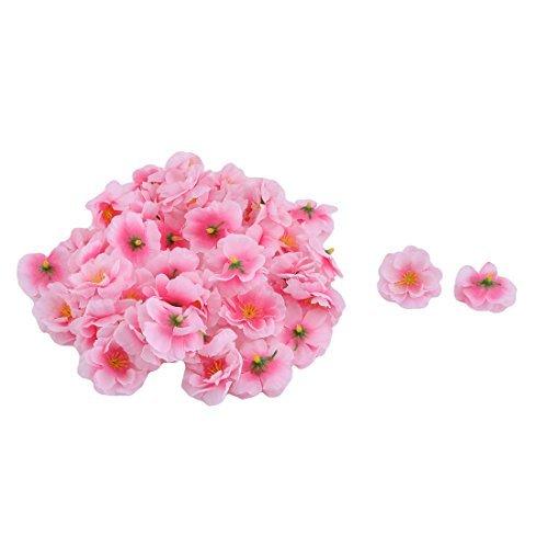 eDealMax Tessuto Matrimonio Casa FAI da te Tabella Desktop ornamento Fiore artificiale Capo 50 pc Rosa
