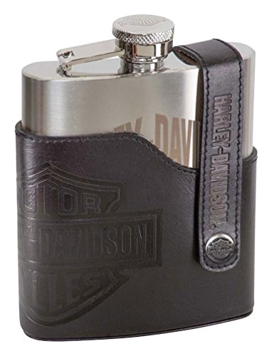 Harley-Davidson Bar & Shield Laser Engraved Flask, Stainless Steel HDL-18572 -