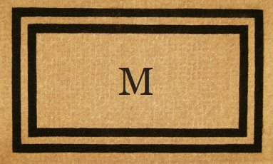 Luxury Coir Monogrammed - Double Picture Frame (Black) M 36 x 72