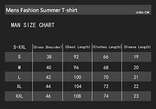 Men's Cool Fashion Cotton Short Sleeve T-Shirt Summer Tee (Green Size L)
