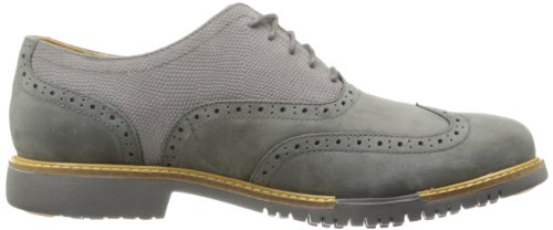 Cole Haan Mens Stor Jones Vingspets Oxford Dark Gull Grey