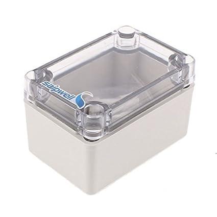 eDealMax 95 x 65 x 55 mm cubierta transparente caja sellada a prueba de agua caja