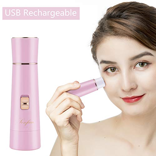 Facial Hair Removal for Women Rechargeable - 2019 USB Rechargeable Hair Remover Trimmer for Face, Armpit, Chin and Full Body, Best Gift for Women-Pink