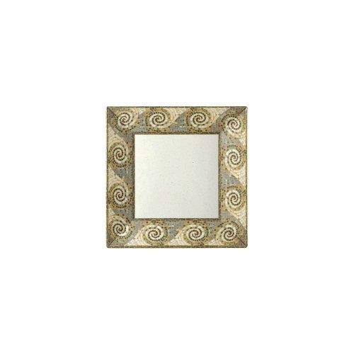 GET Enterprises inc Mosaic Melamine Square Plate, 10 inch - 12 per (Mosaic Melamine Square Plate)