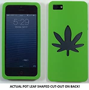 Pot Leaf cut-out phone case (for use with Iphone 5 5S 5C)
