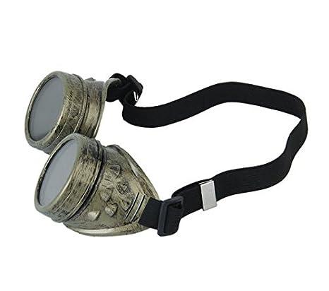 fendii Vintage estilo Steampunk Goggles Soldadura Punk Gafas Cosplay: Amazon.es: Jardín