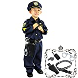 Joyin Toy Spooktacular Creations Deluxe Police Officer Costume and Role Play Kit (Toddler) Navy Blue