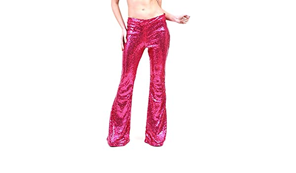 61fd542a20af96 AZZAVERA Pink Sequin High Waist Flare Pants Bell Bottoms Wide Leg Long  Palazzo Yoga Harem Pants, Boho Hippie Women Pants at Amazon Women's  Clothing store: