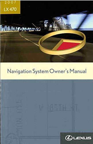 bishko automotive literature 2007 Lexus LX 470 Navigation System Owners Manual ()