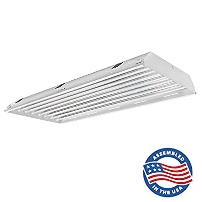 8 Lamp/Bulb LED Linear High Bay Light Fixture - 176W (600W Equivalent), 25600 Lumen, 5000K (Daylight), Indoor Shop Warehouse Industrial Lighting, DLC and UL