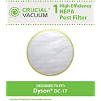 Crucial Vacuum Dyson DC17 HEPA Post-Motor Filter Fits ALL Dyson DC17 models; Compare to Dyson Post-Motor Filter Part # 911235-01; Designed & Engineered