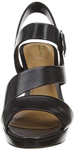 ClarksJenness Soothe - Zapatos de Talón Abierto mujer Negro (Black Leather)