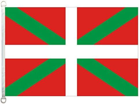 Home King - Pancarta de banderas del País Vasco, 100 % poliéster, 110 g/m², tejido de punto: Amazon.es: Amazon.es