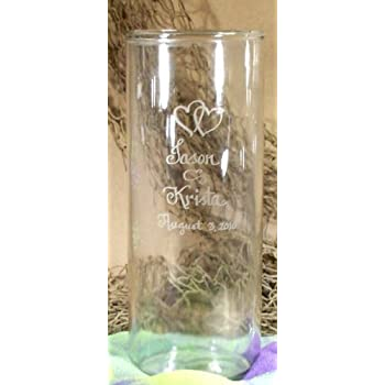225 & Personalized Cylinder Shaped Glass Flower Vase