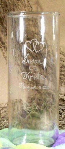 amazon com personalized cylinder shaped glass flower vase home