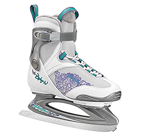 Bladerunner Ice by Rollerblade Zephyr Women's Adult Ice Skates, White and Purple, Recreational, Ice Skates, US Size 8