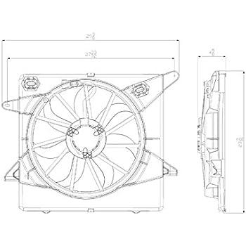 Amazon Com Tyc 622650 Cadillac Srx Replacement Ac Condenser Fan