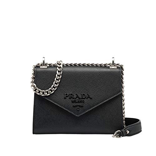 HH-Prada Monochrome Saffiano leather bag
