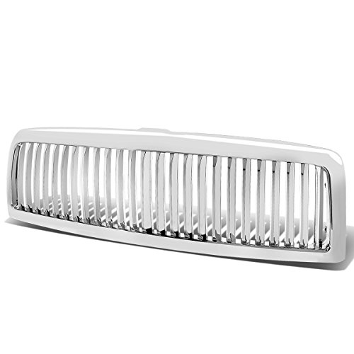 For Dodge Ram 1500/2500/3500 ABS Plastic Vertical Front Grille (Chrome) - 2nd Gen BR/BE Br Chrome Grille Grill