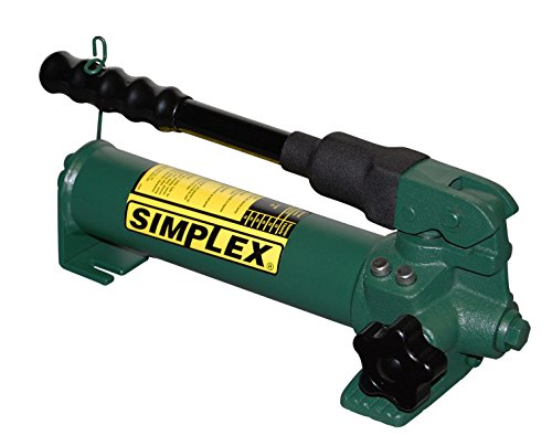 Simplex P22 Steel Compact Hand Pump for Single Acting Cylinder, 20 cu in Oil Reservoir Capacity, 10000 PSI, Green (Pumps Simplex Hand)