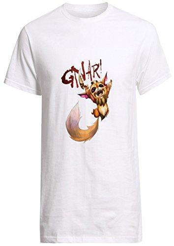 League of Legends Champion Gnar Kid Shirt Custom Fruit of the Loom T-shirt (L)