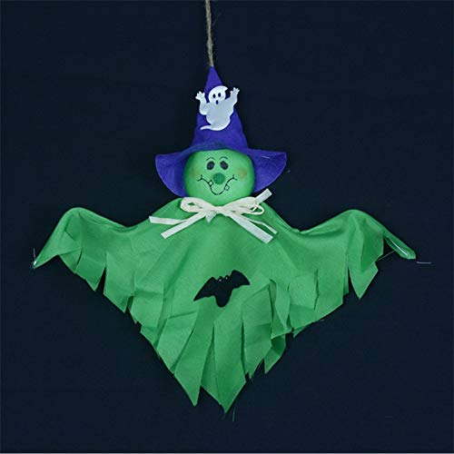 Corcrest - Hanging Ghost Craft for Halloween Decoration Hotel Bar Haunted House Decor Funny Joking Toys Halloween Party Supplies -