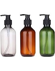 3PCS 500ml/17oz Hand Gel Dispenser Empty Shampoo Bottles Versatile Pump Bottle Drip-free Lotion Container Hand Soap Dispenser Refillable Hand Sanitizer Bottles
