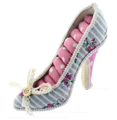 - Victorian Style Ring Shoe Display Holder Jewelry Organizer Gift Case High-Heel