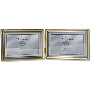 Amazon.com - Lawrence Frames Antique Pewter 4x6 Hinged Double ...