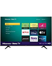 Hisense 55-Inch Class R6 Series Dolby Vision HDR 4K UHD Roku Smart TV with Alexa Compatibility (55R6G, 2021 Model)