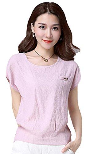 コンチネンタル溶融胸Foncaz tシャツ レディース 半袖 トップス インナー ベーシックtシャツ 丸ネック 薄手 無地 綿 吸汗速乾 ゆったり シンプル 大きいサイズ