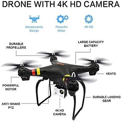 SEXTT Drone Quadcopter con cámara HD de 4K 1200 píxeles, Modo de ...