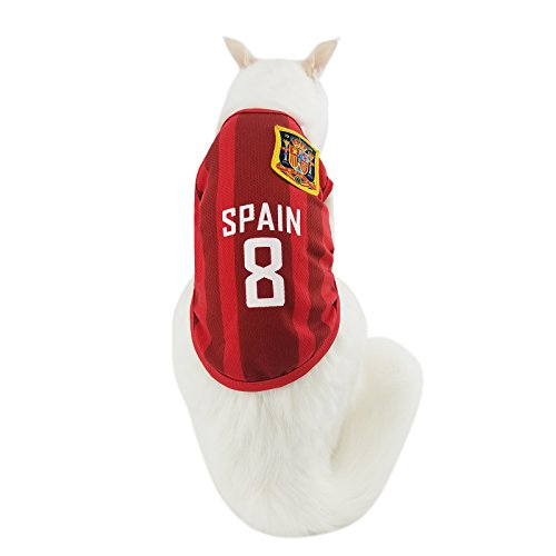 e956ae1a6 Pet Jerseys Siray World Cup FIFA Brazil National Soccer Team Pet Jersey  Dogs Costume Football T-Shirt Dog ...
