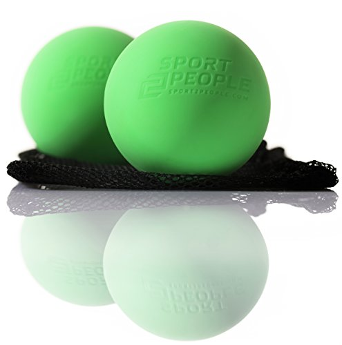 Sport2People Premium Massage Ball – Set of 2 Lacrosse Balls for Trigger Point Treatment and Plantar Fasciitis Pain Relief – Therapy Ball for Deep Tissue Massage and Myofascial Release – DiZiSports Store