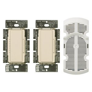 Lutron MA-FQ3-LA Fan Speed Control with Canopy Module Maestro 4.0A - Light Almond-2PK by Lutron