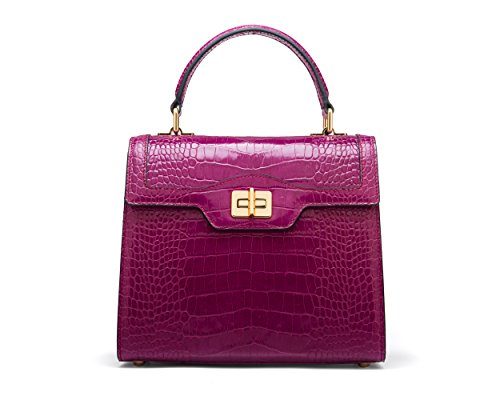 SAGEBROWN Pink The Croc Morgan Bag aBwarAqz
