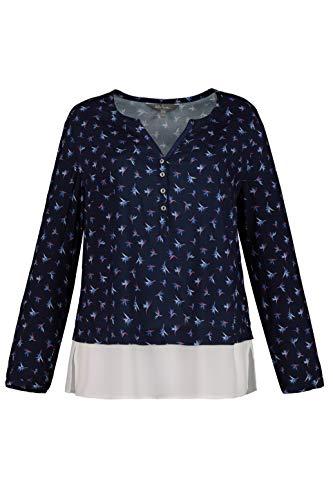 Größen Morado Popken 86 Doppellagigem helllflieder Para Minimalprint Saum Camiseta Mit Ulla Tunika Mujer Und Große 8g7wqZxZd