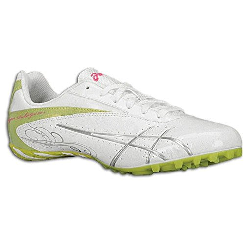 (ASICS Women's Hyper-Rocketgirl SP 4 Track And Field Shoe,White/Lightning/Kiwi,8.5 M)