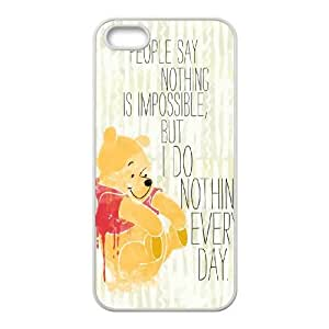 Lycase(TM) Winnie the Pooh quote Personalized Cover Case, Winnie the Pooh quote Iphone 5,5S Case Cover