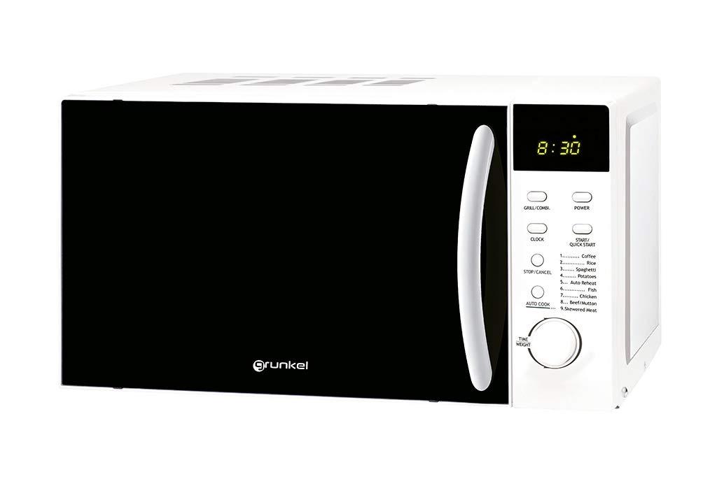 Grunkel - Microondas digital con grill blanco de 20 litros de ...