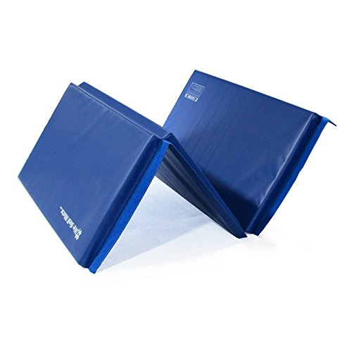 We Sell Mats Thick Gymnastics Tumbling Exercise Folding Mat, Blue, 4' x 6' x 1.5'' by We Sell Mats (Image #3)