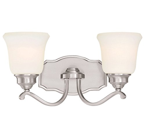Minka Lavery Minka 3322-84 Transitional Two Light Bath from Savannah Row Collection in Pwt, Nckl, B/S, Slvr.Finish B/S Savannah Collection Two Light