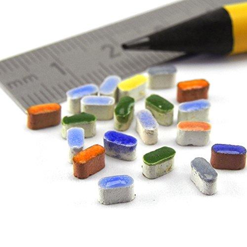 Mosaic-Minis Rice Form,1000 Micro tiles 5x2x3 mm,Mix ALL, MXAL